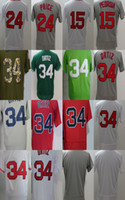 Wholesale Boston Prices - Mens Womens Kids Boston 15 Dustin Pedroia 24 David Price 34 David Ortiz Blank White Grey Blue Green Cheap Baseball Jerseys
