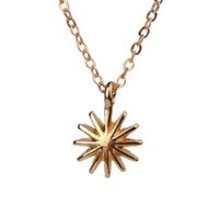Wholesale Gold Venus - Dogeared Accomplish Magnificent Things Starburst Venus Pendant Necklace Gold Plated Clavicle Chains Statement Necklace Women Jewelry