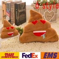 emoji cushion venda por atacado-30 cm Poo Travesseiro de Pelúcia Bonito Engraçado Emoji Almofada Travesseiro Recheado Brinquedo Boneca Almofada Do Sofá Cadeira Travesseiros Travesseiro Lombar XMAS Brinquedos Presentes WX-T40