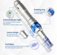 Wholesale needle meso pen resale online - High Quality Wireless Derma Pen Dr Pen Powerful Ultima A6 Microneedle Dermapen Meso Rechargeable Derma Pen With Needle Cartridge