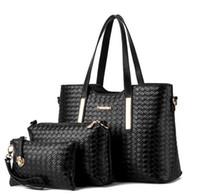 timsah takımı toptan satış-3 adet / takım kompozit çanta Kadın Kirpik Paketi PU Deri Çanta Timsah Desen Çanta Omuz Crossbody Çanta Debriyaj Çanta Ücretsiz Kargo