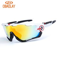 Compra Ciclo Bianco Nero-Occhiali da sole in bicicletta - Occhiali da sole sportivi polarizzati Mountain Bike Fishing Running Intercambiabile 3 occhiali da sole Occhiali da sole Jawbreaker, Bianco Nero