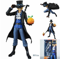 Wholesale MegaHouse Variable Action Heroes One Piece Sabo Boxed PVC Action Figure Collectible Model Toy approx cm