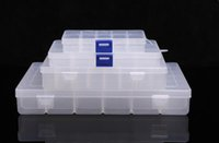Wholesale Small Compartment Storage Boxes - Transparent storage box small plastic boxes storage box jewelry storage box with compartment detachable 4 specification 10 cells boxes