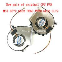 enfriador de msi cpu al por mayor-Envío gratuito Nuevo MSI GE62 GL62 GE72 GL72 GP62 GP72 PE60 PE70 Ventilador de refrigeración de la CPU PAAD06015SL