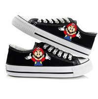 Wholesale Mario Shoes - New Arrival Game Super Mario Bros Hand Painted CanvasShoes,OutdoorLeisureFashionSneakers,UnisexCasualShoes Hot Items