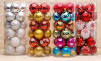 """Wholesale Pink Snowflake Ornament - Festive Supplies 2.27"""" Decoration Painting Ornaments Snowflake Balls 4 Design Golden Red Blue White Hot Pink"""