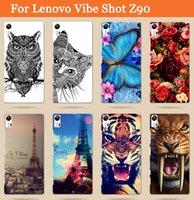 Wholesale Drawing Pattern Case - Wholesale-For Lenovo Vibe Shot Z90 Z90-7 Case Cover   Hot Selling 14 patterns painting Colored Drawing Case for Lenovo Vibe Shot Z90 Z90-7