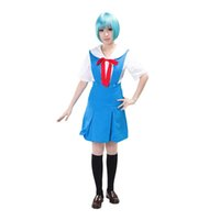Wholesale Rei Xxl - Neon Genesis Evangelion Rei Ayanami Cosplay Costume Japanese School Uniform Halloween Costumes for Women