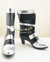 Wholesale Ao Cosplay - Wholesale-Eiyuu Densetsu Ao no Kiseki Mariabell Crois Cosplay Boots shoes shoe boot #NC180 anime Halloween Christmas