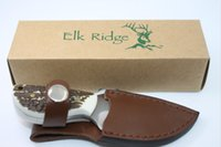 Wholesale Knife Forged - BOKER Elk Ridge Pocket Fixed Blade Knife 7Cr17Mov 58HRC Hand Forging Antler Handle Tactical Hunting Survival Camping Straight Knife EDC