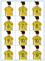 Wholesale Blank Black Football Jersey - Women 2016 Copa America Brasil Blank Customized Home Soccer Jerseys 10 NEYMAR JR RONALDINHO Yellow Football Shirts Size S-L TOP AAA+ Quality