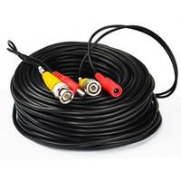 звуковой силовой провод оптовых-33Feet / 10M BNC RCA аудио-видео Удлинитель DVR наблюдения провод подходит для CCT_213 CCTV камеры безопасности
