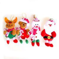 Wholesale Big Snowmen Santa Christmas - Santa Claus Snowman Bear Elk 4 Styles Exclusive Super Cute Christmas Decoration Tree Decorations Festival Toy Wholesale 0708051