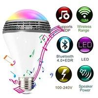 Wholesale Ho Box - Original Bluetooth Smart Speaker Light E27 LED White + RGB Bulb Colorful Lamp Smart Music Audio Bluetooth Speaker with Remote Control for Ho
