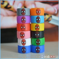 spiders band - Pretty vaping accessary Spider Man vape band widened silicone ring hot selling rubber MOQ mixed colors only just for u