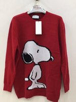 Wholesale Thin Crochet - 2017.8.24 oss real photos new autumn and winter women and men high quality Snoopy Couples Knitted sweaters M-XXL