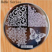 Wholesale Nails Cut Designs - Wholesale- Cut Butterfly Flower Pattern etc 72 Design Plate hehe 1-60 Series Nail Art Image Konad Print Stamp Stamping Manicure Template