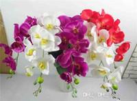 ingrosso fiori artificiali diretti-Maggiore di colla Simulazione di alta qualità Farfalla Orchidea Orchidea Fiore finto Fiore di simulazione Produttori diretti all'ingrosso Flusso artificiale