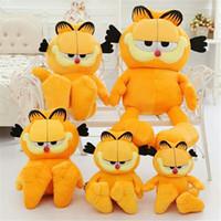 Wholesale Garfield Stuffed - Hot Selling! 1pcs 35cm Plush Garfield Cat Plush Stuffed Toy High Quality Soft Plush Figure Doll Free Shipping