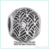 Wholesale Crown Collection - crown summer collection charms Silver Tropicana charm 925 ale sterling silver charms loose beads diy jewelry for thread bracelet DF673
