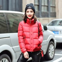 Wholesale Womens Short Red Parka - Winter Coat Women 2017 Womens Down Parka 90% White Duck Down Jacket Female Short Coats Outwear Loose Brand Fashion Parkas