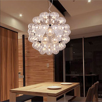 Wholesale Dining Pendant Lamp - Creative Italy FLOS Taraxacum 88 Glass Bubble Chandelier Light Modern Pendant Droplight Lamp Lighting 20 40 60 Heads by Achille Castiglioni