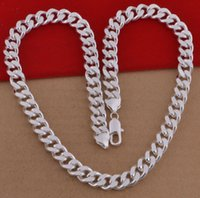 Wholesale mm wide inch sterling silver men chains necklaces fashion men jewelry