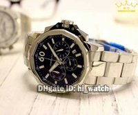 Super Clone Brand Luxury Watch Admiral's Cup Black Dial Silver Mens Watch Quartz Chronograph Stainless Steel Band Cheap New Relógios de pulso