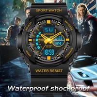 Wholesale Ladies Outdoor Watches - 2016 New SANDA Brand Hot Female Watch Outdoor Sports Ladies LED Digital Alarm Waterproof Men Wristwatch Children's Watches
