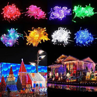 Wholesale Christmas Tree For Wall - AC110V 220V 100 200 300 500 LED Curtain Lights Christmas Fairy String Lights For Wedding Holiday Party Outdoor Wall Bathroom Decoration