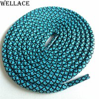 Wholesale bright hotels - Wellace bright colors hiking walking two toned rope laces replacement shoe laces round polyester shoelaces 120cm for basketball sneakers