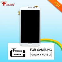 Wholesale Note2 Replacement Screen - for Samsung Galaxy Note2 7102 7100 7108 7105 original LCD display screen digitizer replacement high quality free shipping