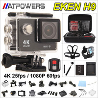 Wholesale Hd Camera Lenses - EKEN Remote Action Camera Ultra HD 4K WiFi Sport Camera 1080P 60fps 2.0 LCD 170D Lens Helmet Cam Go Waterproof Pro Camera