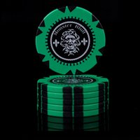 No Value Poker Chips 14g Clay / Iron Casino Chips 6 colori Poker Texas Hold'em Poker all'ingrosso Poker Club