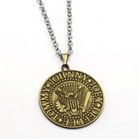 Wholesale Gifts Music Lover - Music Band The Ramones Necklace Cool Fans Pendant Fashion link chain Necklaces Friendship Gift Jewelry Accessories