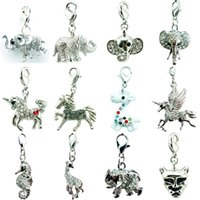 Wholesale elephant mix for sale - Group buy Promotion DIY Mix Sale Brand New Price High Quality Fashion Elephant Horse Lobster Clasp Charms For Jewelry Accessories