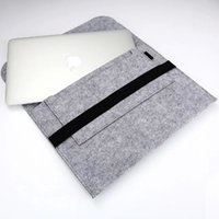 Wholesale Ultrabook 13 Inch - 13 Inch Soft Felt Sleeve Bag Case Notebook Cover For Apple Macbook Air Pro Retina Ipad Pro Ultrabook Laptop Tablet PC