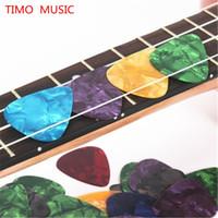Wholesale Acoustic Guitar Picks Plectrum - 100pcs 0.46mm Guitar Picks Acoustic Electric Plectrums Celluloid Assorted Colors