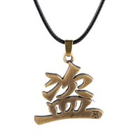 Wholesale Animations Words - 2016 The new alloy word pendant necklace Tomb notes innocent men and women cartoon animation around jewelry