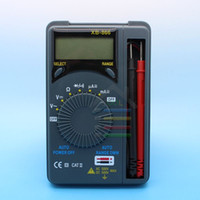 Wholesale Ac Dc Track - Professional LCD Display Mini Pocket Auto Range AC DC U I LCD Digital Multimeter Multimetro LCR Meter Ammeter Multitester order<$18no track