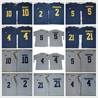Wholesale Tom Brady College Football Jersey - Youth Michigan Wolverines Jerseys Kids Jim Harbaugh Tom Desmond Howard 21 Charles Woodson 2 Jabrill Peppers Brady College football jerseys