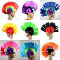 Wholesale Mohawk Wigs - Halloween Christmas Wigs Funny Dress Up Dresses Headdress mohawk Cockscomb Hair Ornament Free Shipping