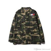 Wholesale Denim Coat Hoodie - New Arrival Camo Jeans Jacket Hoodies Fashion Men's Skateboard Hoodie Sweatshirts Denim Casual Jackets Men Women Hip Hop Loose Coat