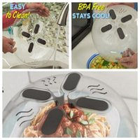 Wholesale Stockings Silicone Cover - 30*8.5cm Microwave Splatter Lid Food Splatter Guard Cover Microwave Hover Anti-Sputtering Cover With Steam Vents Opp Package CCA7540 200pcs