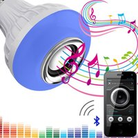 Wholesale Wireless Remote For Lights - 2017 LED bulb bluetooth wireless speaker ,smart music light lamp E27 bulbs with Remote control for iphone ipad smart control audio playing