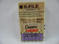 Wholesale Dental Root Canal K File - One Pack Dental Dentsply K-FILE 25mm #010 Hand Use Root Canal Files Endodontics DBM