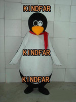 Wholesale Adult Halloween Ideas - Wholesale-CUTE PENGUIN MASCOT COSTUME Adult Halloween Cartoon Party Outfits Fancy Dress Ideas Free Shipping