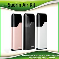 Wholesale Electronic Cartridge Cigarette Kit - Original Murdex Suorin Air Starter Kits 16W 400mah Battery and 2ml Cartridge Electronic Cigarette Vaporizer Kit 100% Genuine