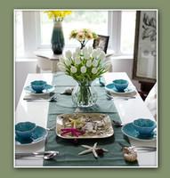 jeu de tête pour mariage achat en gros de-10 tête Tulip Artificielle Fleur 2016 PU artificielle bouquet de tulipes toucher des fleurs Pour la décoration intérieure 1 ensemble = 10 têtes de mariage Fleurs décoratives